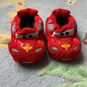 Disney Toddler Slippers Lightning McQueen sz 9/10